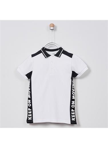 Panço Erkek Çocuk Pike T-shirt 2011BK05018 Beyaz